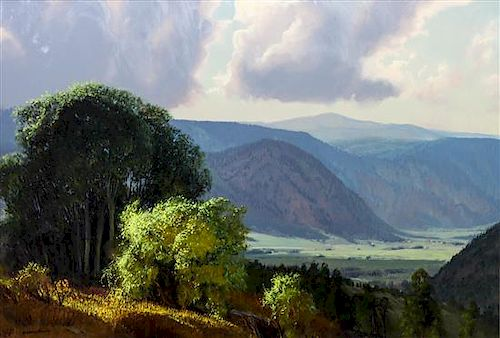 Wilson Hurley, (American, 1924-2008), The Moreno Valley from Comanche Gulch