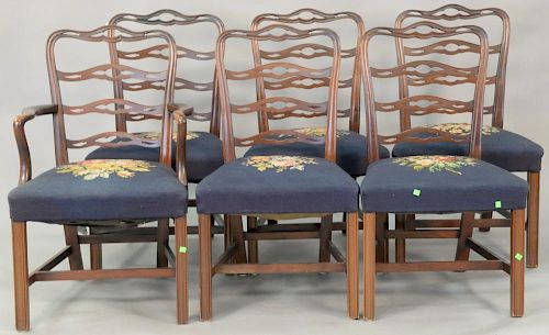 Pleasing Seven Piece Mahogany Dining Set With Triple Pedestal Dining Short Links Chair Design For Home Short Linksinfo