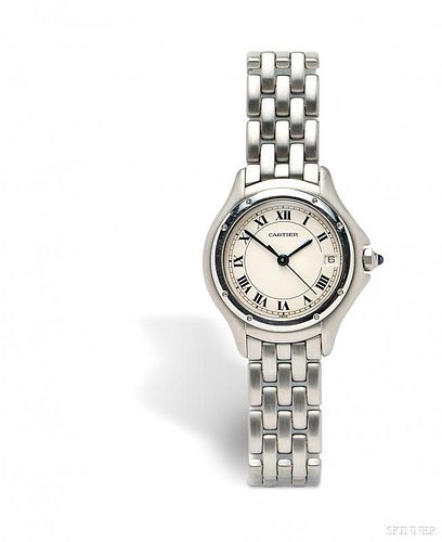 Lady's Stainless Steel Wristwatch, Cartier