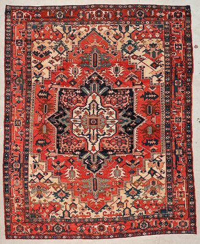 Antique Serapi Rug: 9'8'' x 11'8'' (295 x 356 cm)
