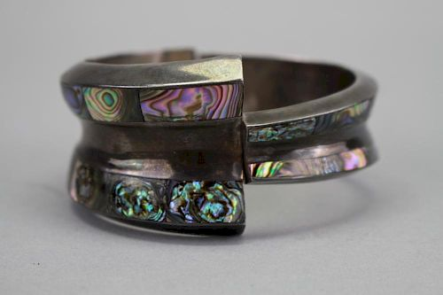 Vintage Taxco Mexican Sterling Silver Bangle