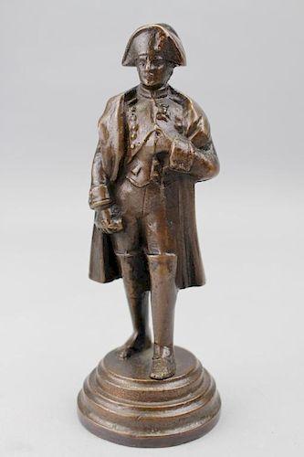 19th C. Bronze Napoleon Figure