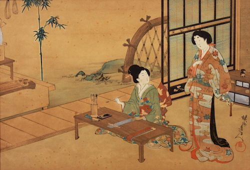Katsushika Hokusai 19th C. Japanese Woodblock
