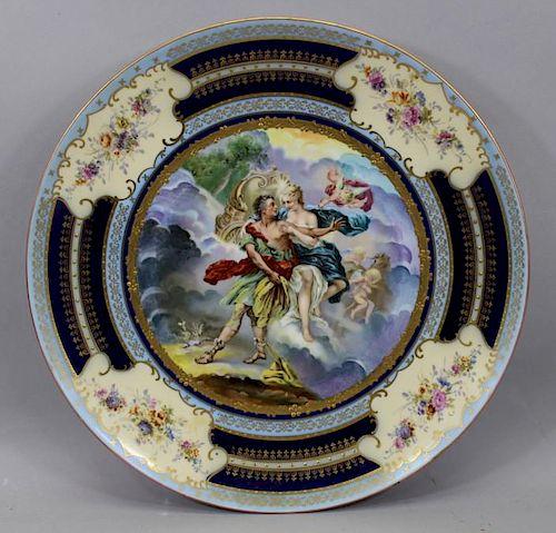 Antique Austrian Royal Vienna Allegorical Charger