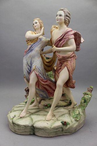 20th C. Italian Porcelain Figural Grouping