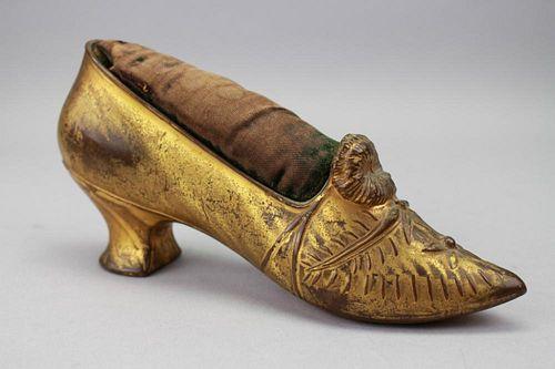 Antique Gilt Bronzed Pin Cushion