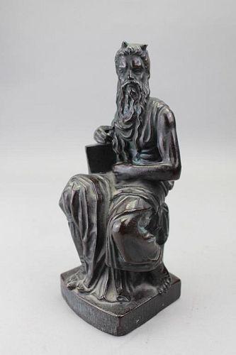 """Faux Bronze Sculpture of """"Michelangelo's Moses"""""""