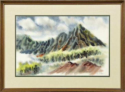 """Hon Chew Hee (1906-1993, Hawaiian/Californian), """"W"""