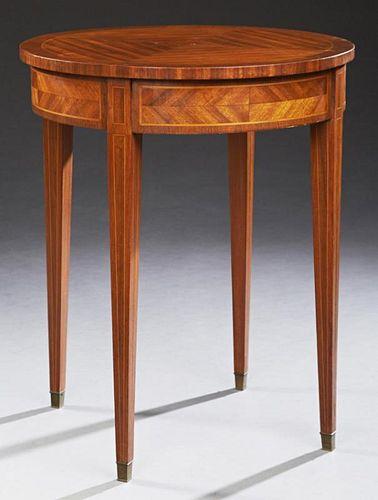French Inlaid Mahogany Louis XVI Style Gueridon, l