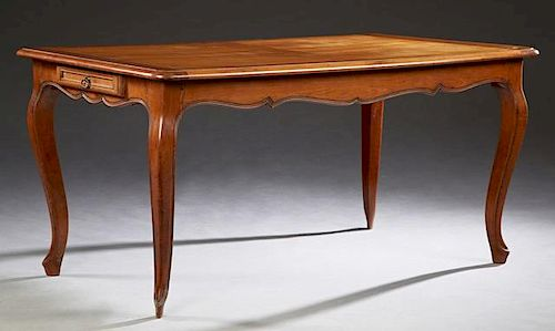 French Louis XV Style Carved Cherry Dining Table,
