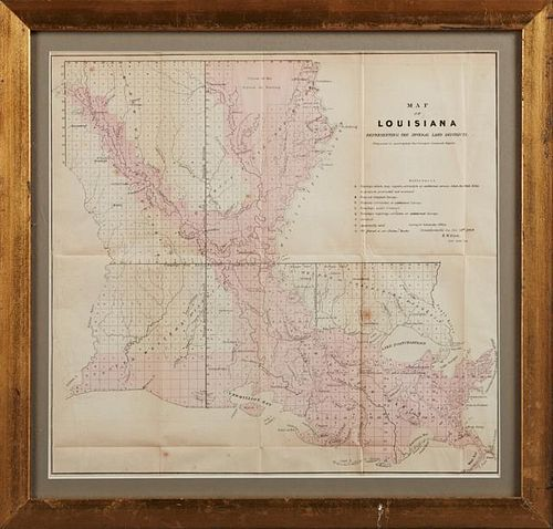 """Map of Louisiana, Representing the Several Land D"