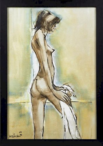 "Francis Verlinden (1935- ), ""Abstract Standing Fem"