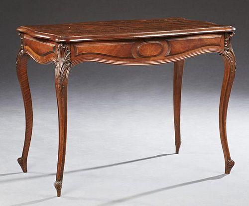 French Louis XV Style Mahogany and Oak Writing Tab