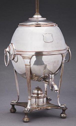 English Silverplated Copper Hot Water Urn, late 19