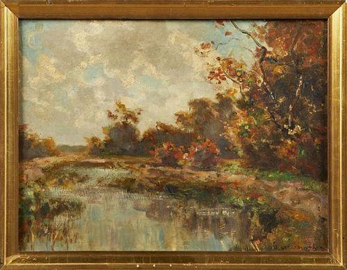 "American School, ""Autumn Landscape,"" early 20th c."