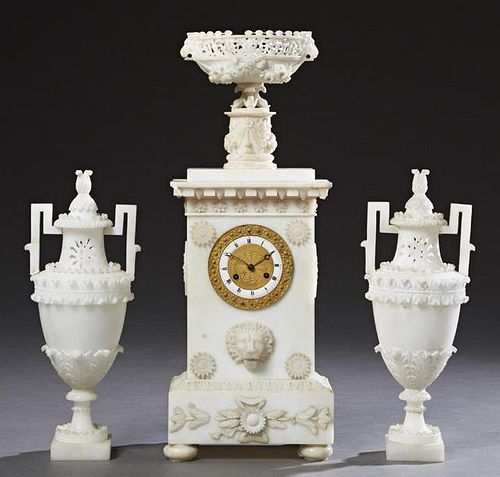 Assembled Four Piece French Marble and Alabaster C