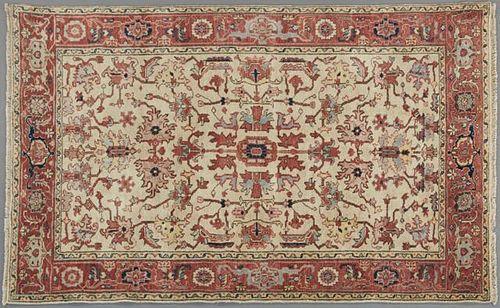 Fine Agra Serapi Carpet, 5' 6 x 8' 8.