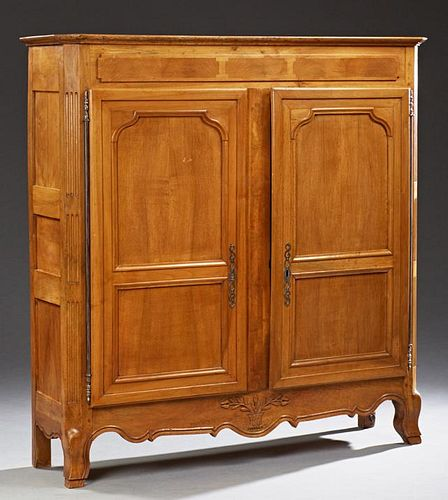 French Louis XV Style Carved Walnut Sideboard, 19t