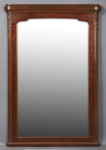 Louis XVI Style Carved Mahogany Overmantel Mirror,