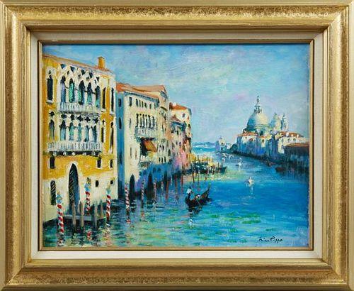 """Nino Pippa (1950- , Italian), """"Venice - The Grand"""