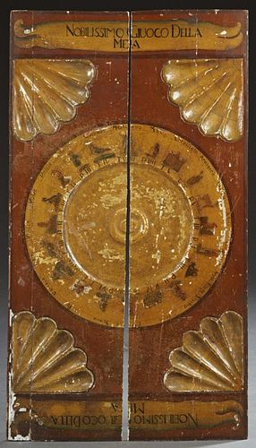 "Italian Game Board, 19th c., ""Nobilissimo Giuoco D"
