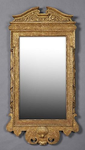 Regency Style Carved Giltwood Mirror, 20th c., the