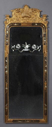 English Regency Style Gilt and Polychromed Overman