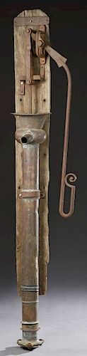 Unusual French Copper Water Pump, 19th c., with a