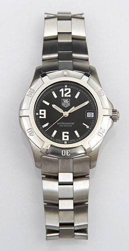 Stainless Men's Tag Heuer Professional Wristwatch,