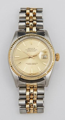 Man's Rolex 14K Yellow Gold and Stainless Oyster P