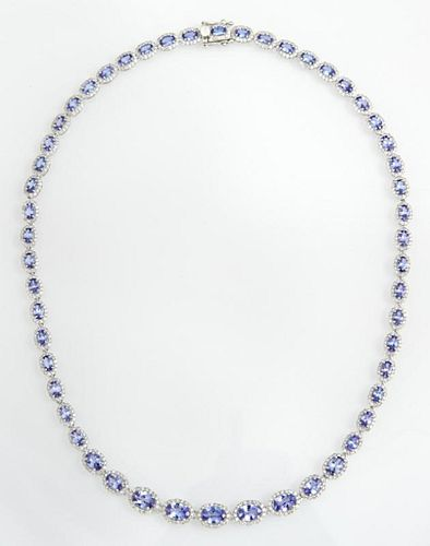 14K White Gold Link Necklace, each of the 52 links