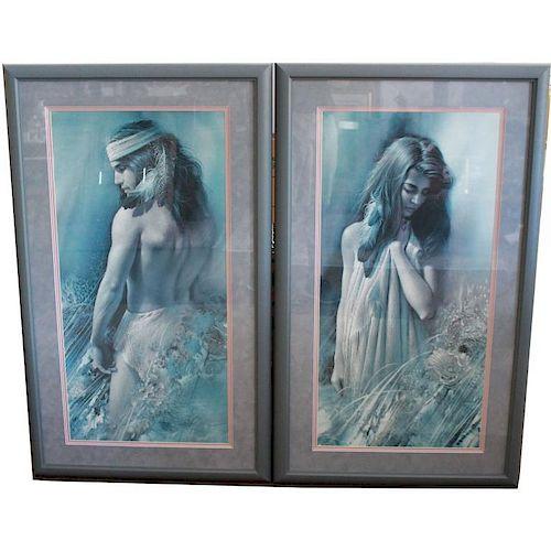 """(2) Lee Bogle """"First Glance"""" Framed Prints"""