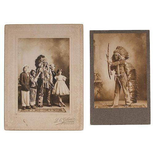 """""""Indian Pete"""" Culbertson, Fantastically Posed Photographs"""