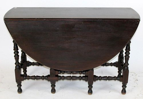 English gate leg drop side table in walnut