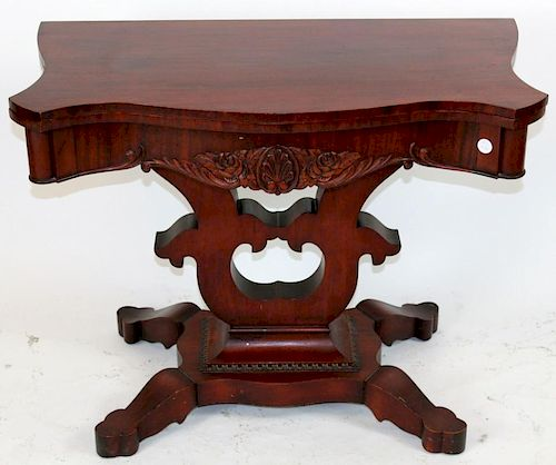 American Victorian flame mahogany flip top game table