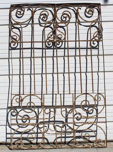 Iron gate panel