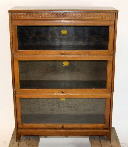 Gunn Furniture Co 3 section barrister bookcase