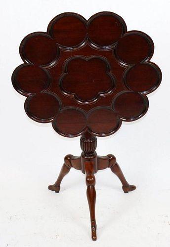 George II style mahogany tilt top tea table