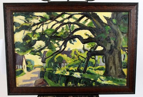 David Ahlqvist (1900-1988) oil on canvas painting