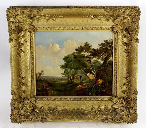 Patrick Nasmyth (1737-1831) oil on canvas landscape
