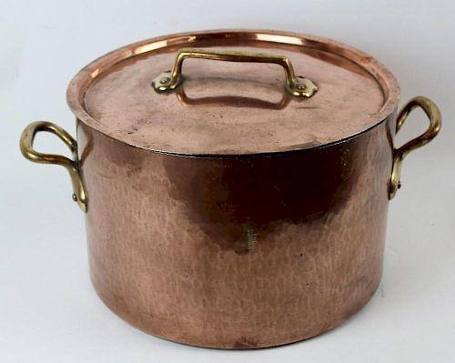 French E. Dehillerin Paris copper pot with lid