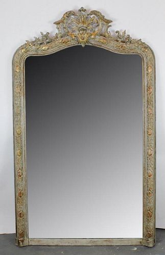 French Louis XIV painted mirror
