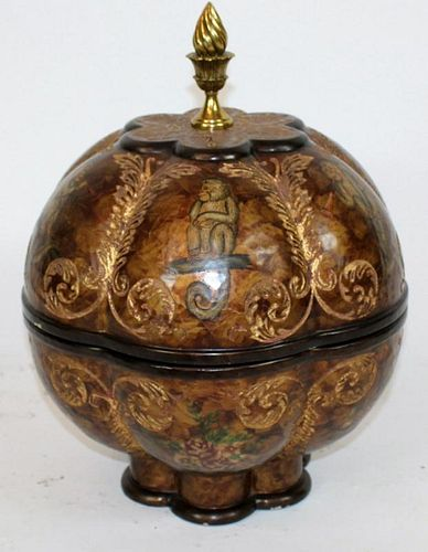 Maitland Smith spherical lidded box