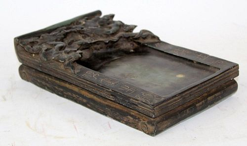 Chinese inkstone with dragon