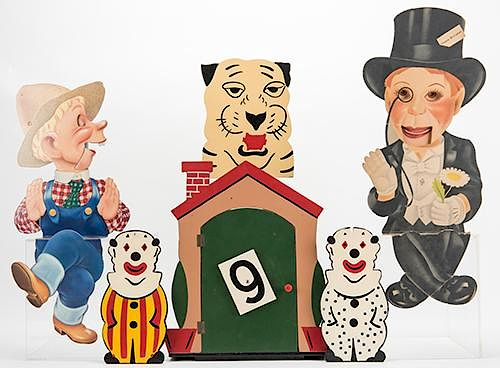 Group of Three Magic and Ventriloquism Props