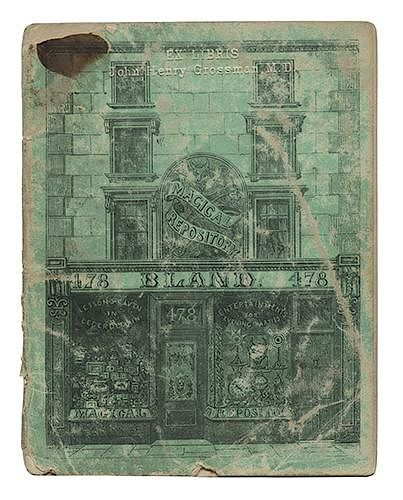 Extra Catalog of Novelties, Mr. Bland