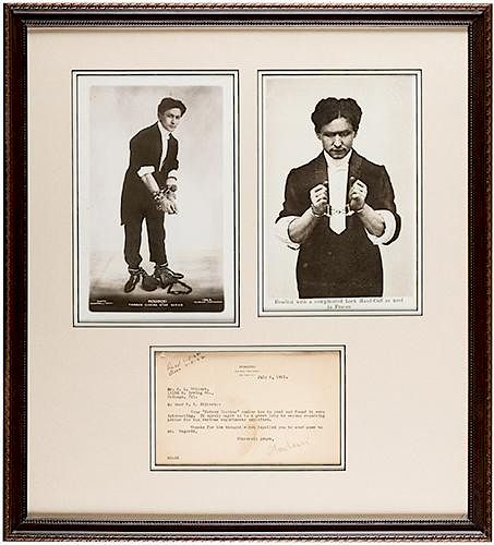 """Typed Letter Signed, """"Houdini,"""" to B.L. Gilbert"""