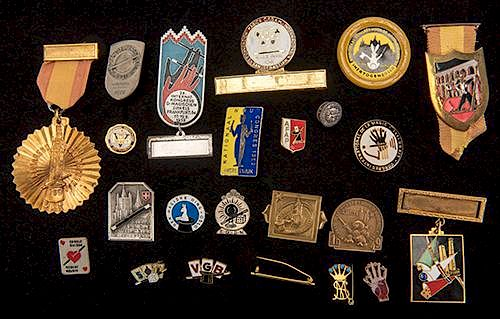 Collection of Over 30 Magician's Lapel Pins