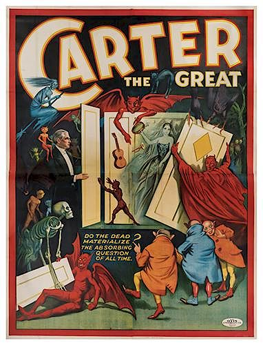 Carter the Great. Do the Dead Materialize? The Absorbing Question of All Time