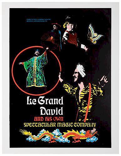 Le Grand David. Group of a Dozen Magic Posters